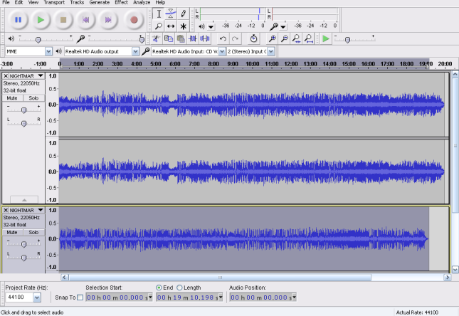 how to cut portion in audacity
