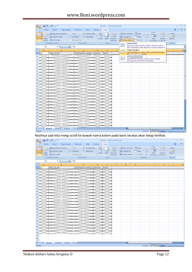 7 Tips dan trik Excel12