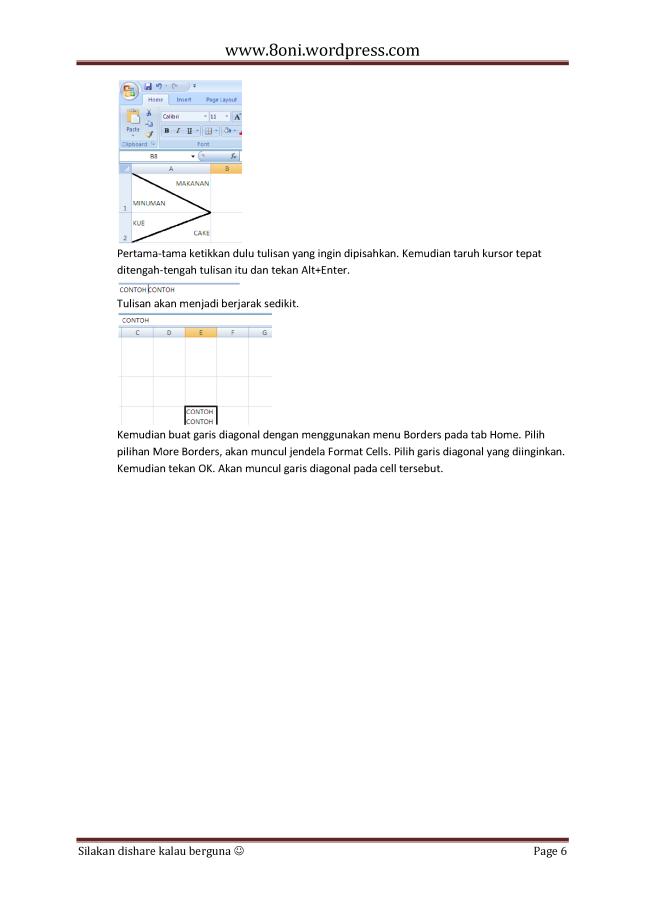 7 Tips dan trik Excel6