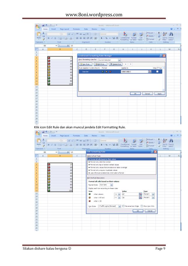 7 Tips dan trik Excel9