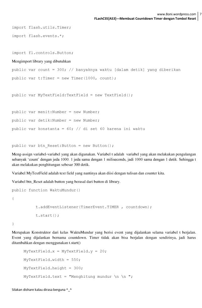 FlashCS5[AS3] --- Membuat Countdown Timer dengan Tombol Reset7