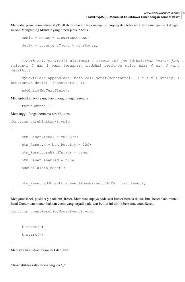 FlashCS5[AS3] --- Membuat Countdown Timer dengan Tombol Reset8